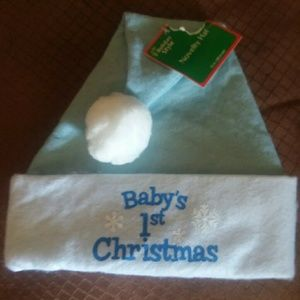 Baby's first Christmas Santa hat